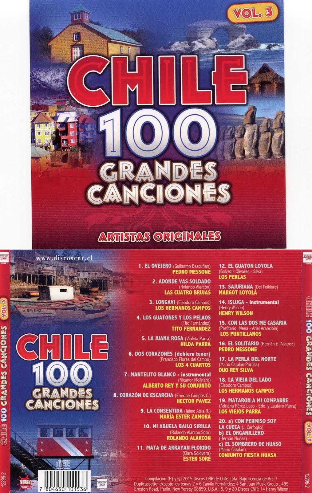 cd 100 grandes canciones de Chile Cd 3 Vol3