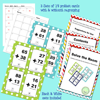 https://www.teacherspayteachers.com/Product/Solve-the-Room-Addition-with-without-regrouping-3198267