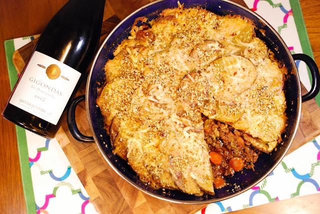 Les Vins de Vienne Gigondas with Gratinéed Shepherd's Pie by Greg Hudson