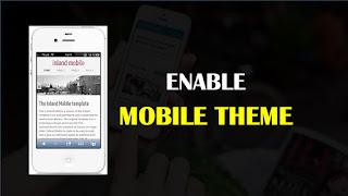 Blogspot Mobile Theme Enable Kaise Kare