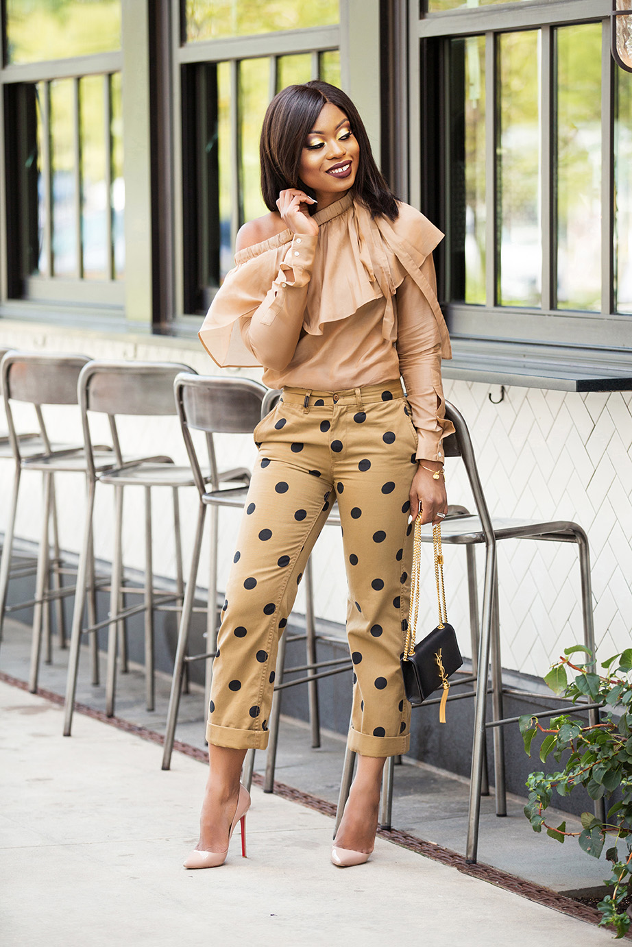 Jcrew polka dot boyfriend chino pants, www.jadore-fashion.com