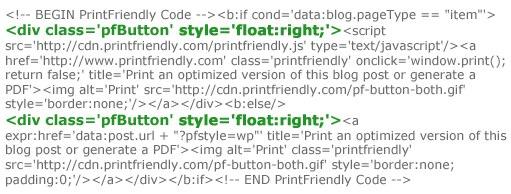 Print Friendly: Add Print Friendly to Blogger or Blogspot