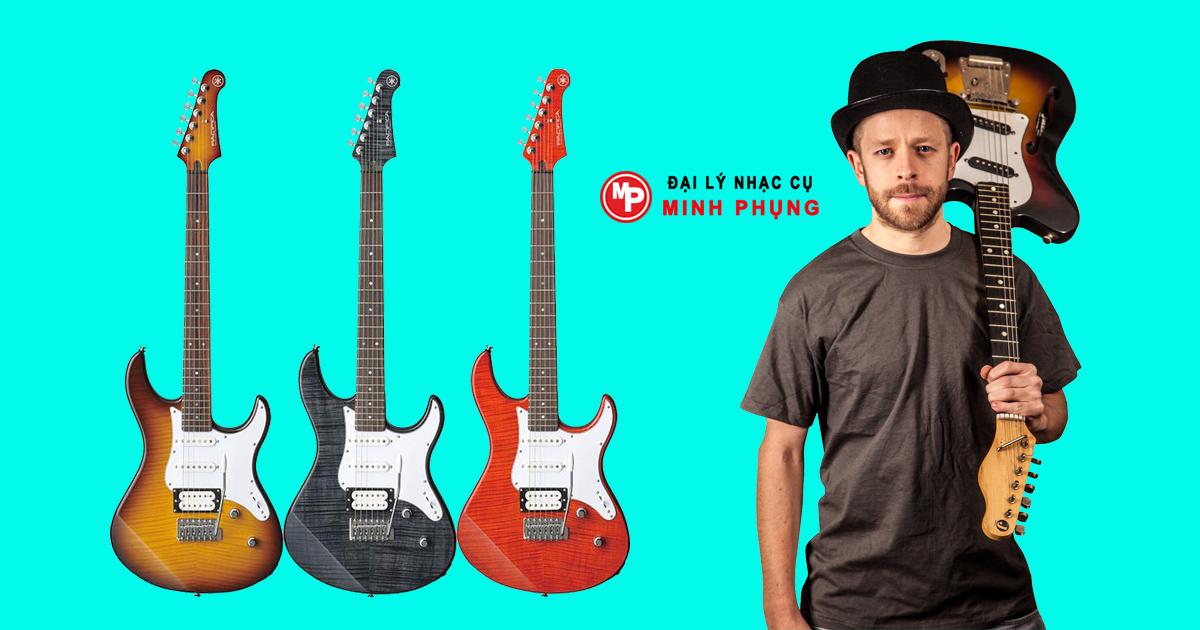 Đàn Guitar Điên Yamaha Pacifica212VQM 3 màu xuyên thấu làm nổi bật hình ảnh gỗ thích với âm tuyệt hảo.