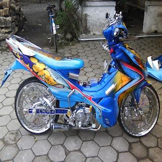 8 Foto modifikasi jupiter z1 ala motogp roadrace paling keren di Indonesia