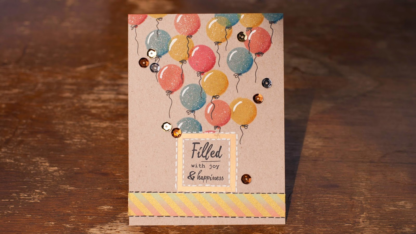 how to add 3d feel to stamped images - using solid stamps kraft card base