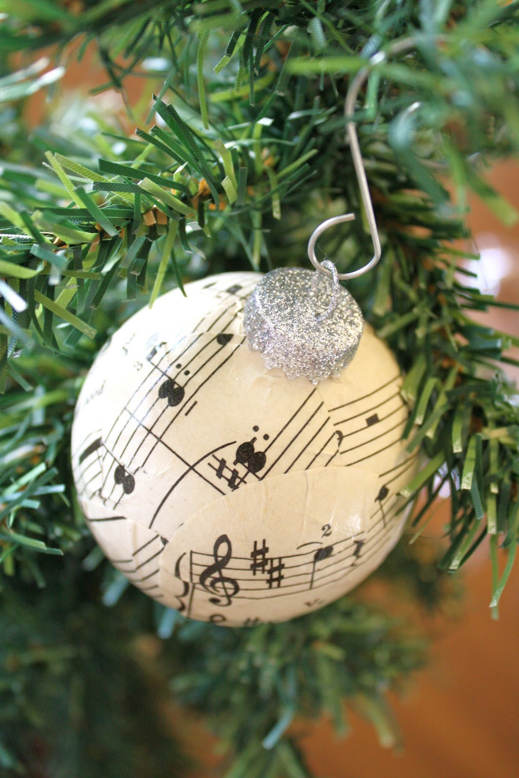 Music Themed Christmas Ornaments.Sheet Music Ball Ornaments