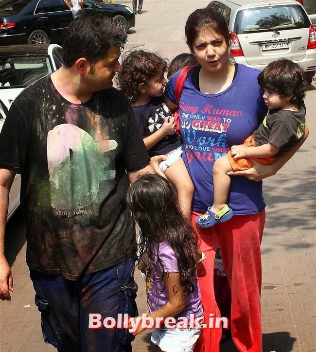 Dabboo Ratnani and Manisha Ratnani at, Sanjay Gupta Bollywood Holi Party Pics 2014