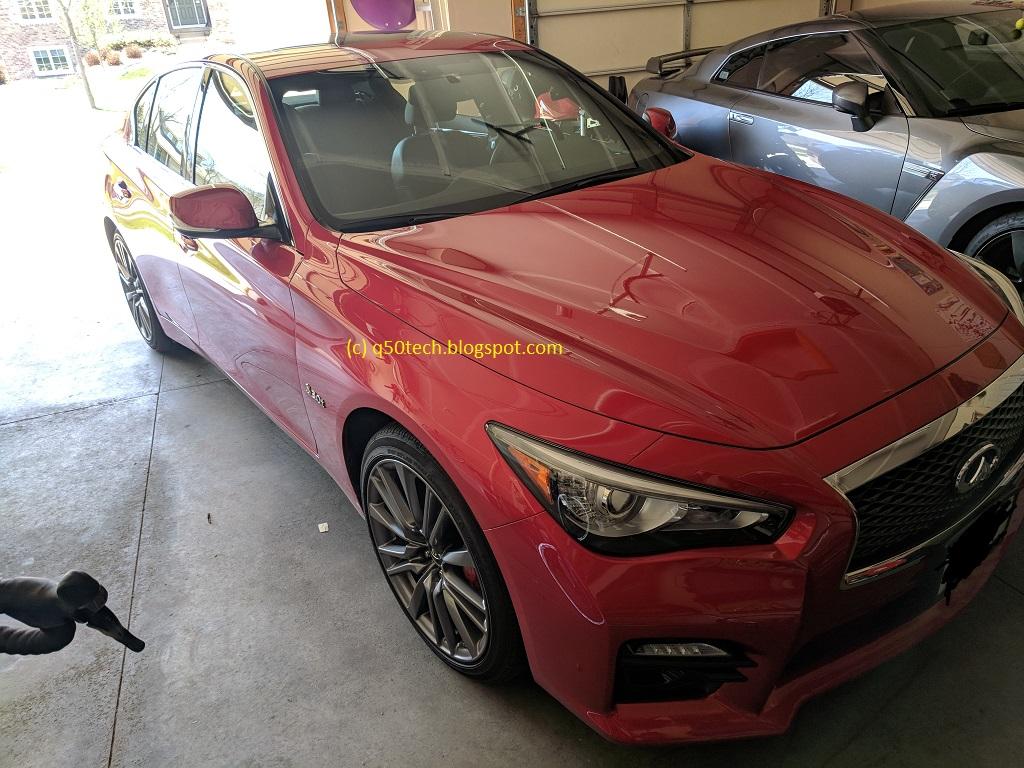 2017 Q50 Red Sport Awd