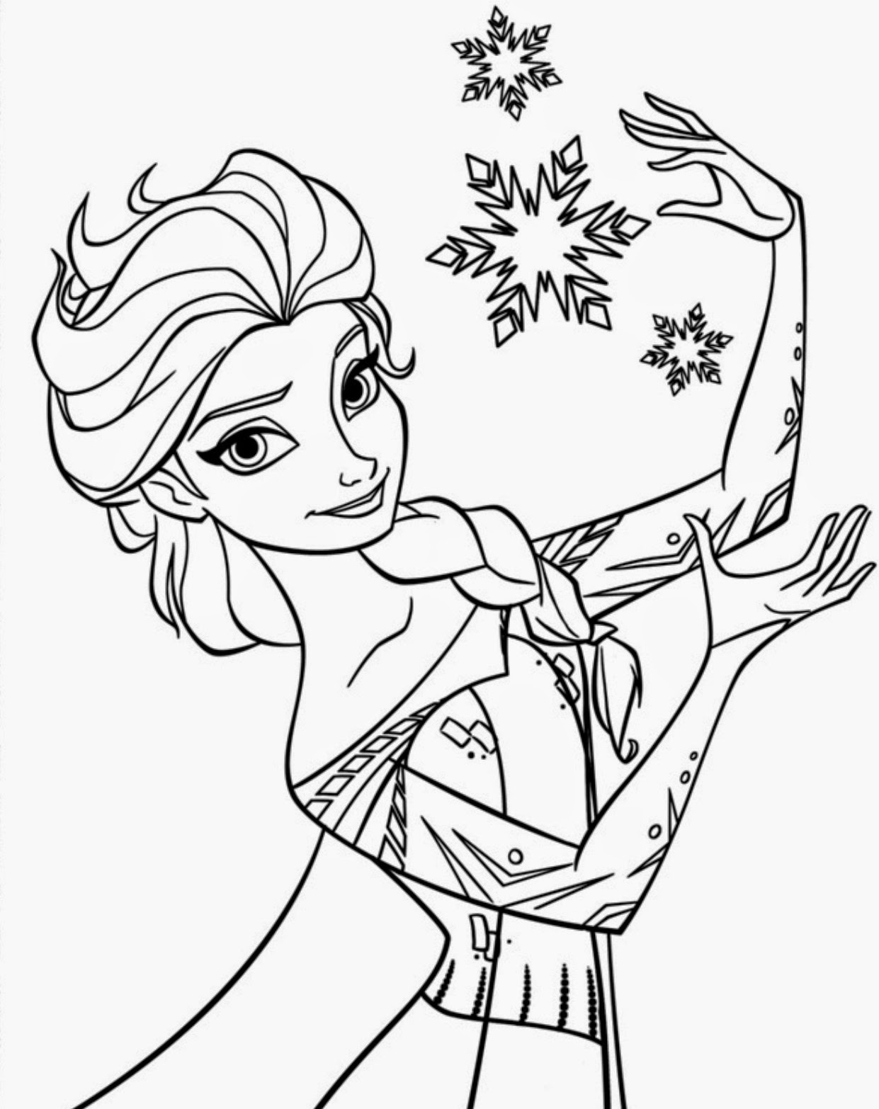 15 Beautiful Disney Frozen Coloring Pages Free ~ Instant ... | disney frozen coloring pages free printable