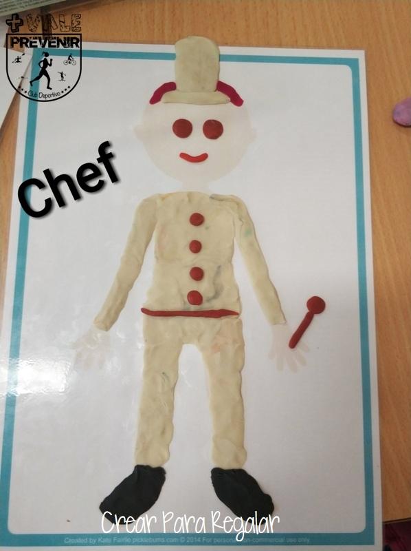 chef con plastilina