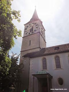 Viagem à Zurique, Suíça. De volta ao ocidente e novamente à Europa. Visitas à igreja Fraumünster, São Peter e Uetliberg.