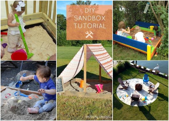 cajas arena, juegos infantiles, actividades infantiles,sandbox diys
