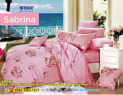Sprei Custom Katun Lokal Dewasa Sabrina Pink Bunga Floral Pink