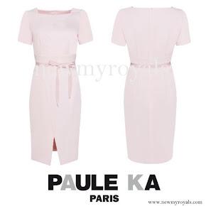 Princess Sofia wore Paule-Ka Crepe Satin Dress