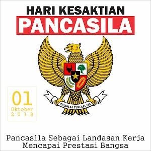 Spanduk Kesaktian Pancasila 1 Oktober 2018