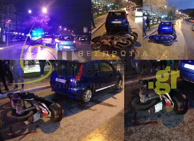 Τροχαίο ατύχημα με τραυματισμό 17χρονου πριν λίγο στα πλατάνια Ηγουμενίτσας (+ΦΩΤΟ)