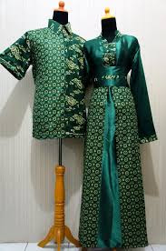 Model Baju Batik Pesta Muslim Sarimbit Keluarga