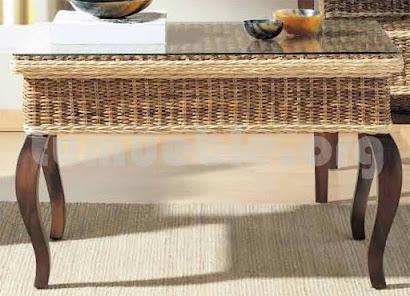 mesa de centro rattan natural j793