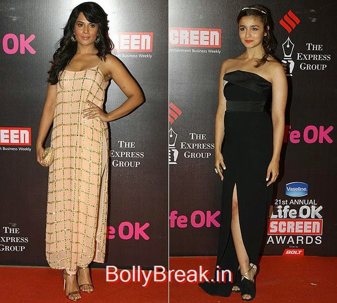 Richa Chadda, Alia Bhatt, Life Ok Screen awards 2015 Red Carpet Hot Pics