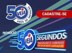 Cadastrar Promoção Veja 50 Segundos Encher Carrinho - Veja 50 Anos 2019