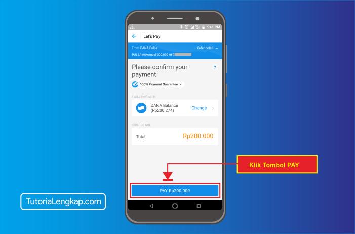 tutorialengkap 4 cara beli pulsa online melalui akun dana di hape android
