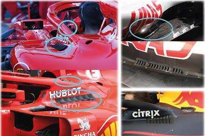 Apa Itu Pendingin  Aerodinamis ( Aerodinamic Cooling ) Pada Mobil Formula 1 ? ini Penjelasannya