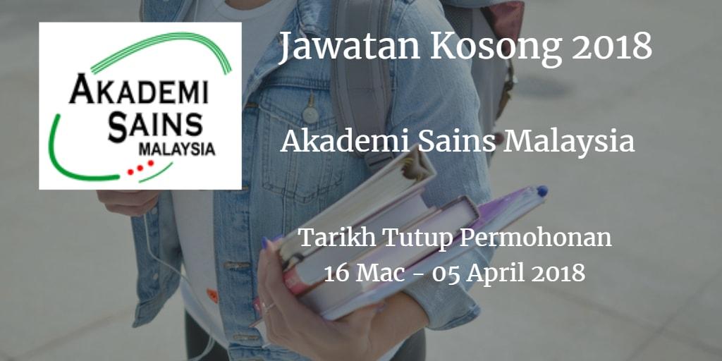 Jawatan Kosong ASM 16 Mac - 05 April 2018