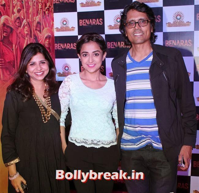 Nagesh Kuknoor with Monali Thakur, Gulaab Gang Movie Premiere Pics