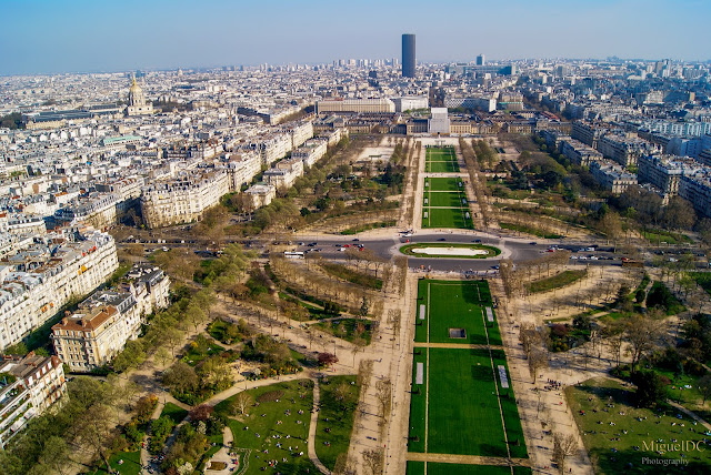 Vista jardines de Paris