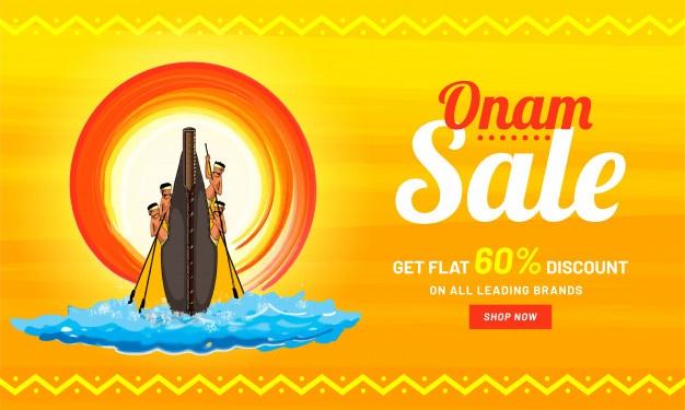 Onam festival celebration concept