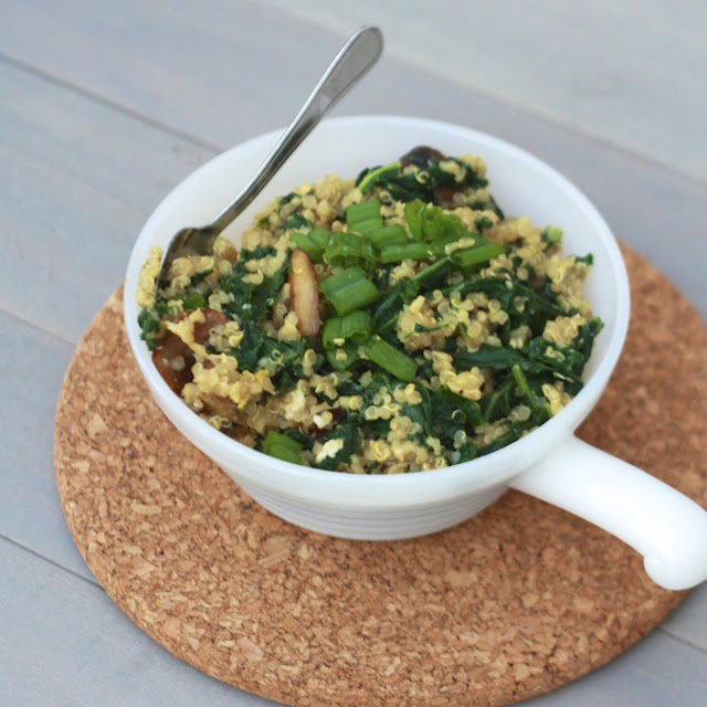 Scrambled Grains with Mushrooms | The Sweets Life