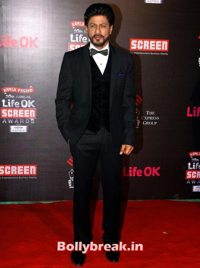 Shah Rukh Khan, Life Ok Screen Awards 2014 Red Carpet Photos