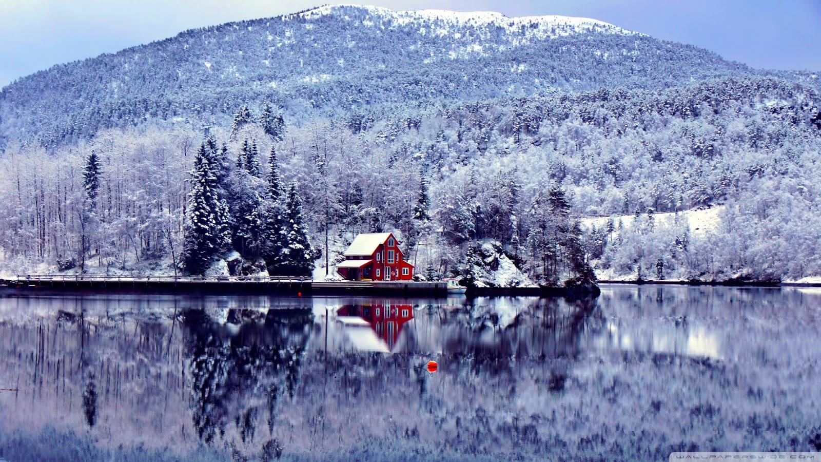 Fond ecran paysage hiver maison fonds d 39 cran hd for Cabine in montagne verdi del vermont
