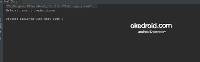 output hasil menggabungkan menggunakan nilai tipe data string dengan method format() di program java