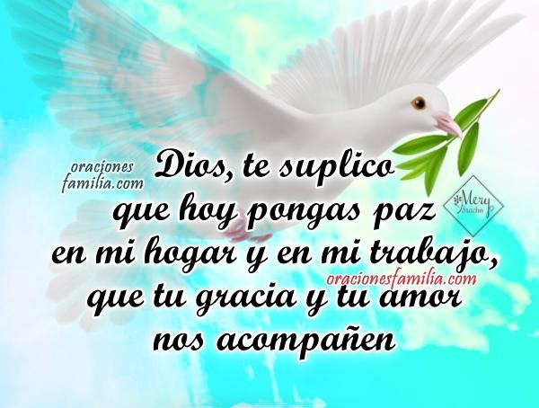 Oración de la mañana por paz en la vida, Dios dame serenidad hoy, imágenes con oraciones cortas de buen día de paz, plegaria por Mery Bracho.