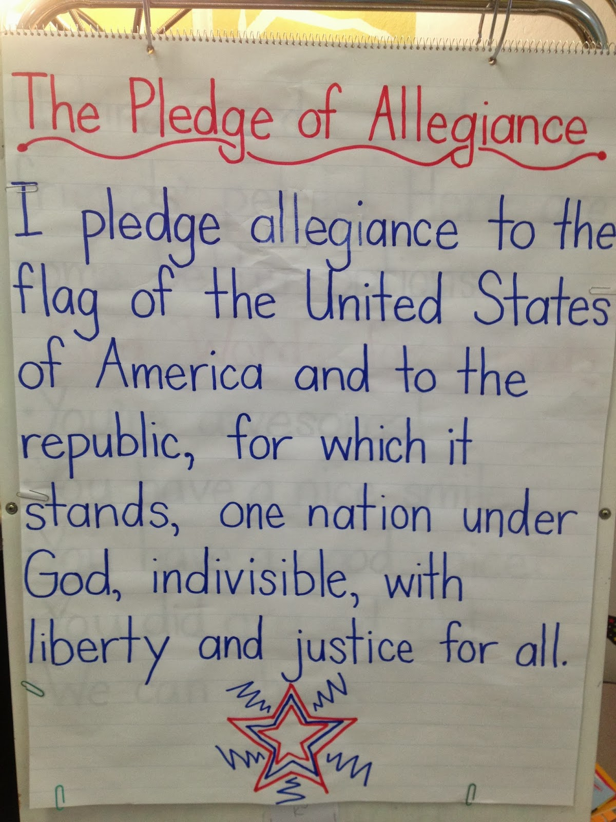 Class Y Kimberly Tuesday Reading Pledge Of Allegiance