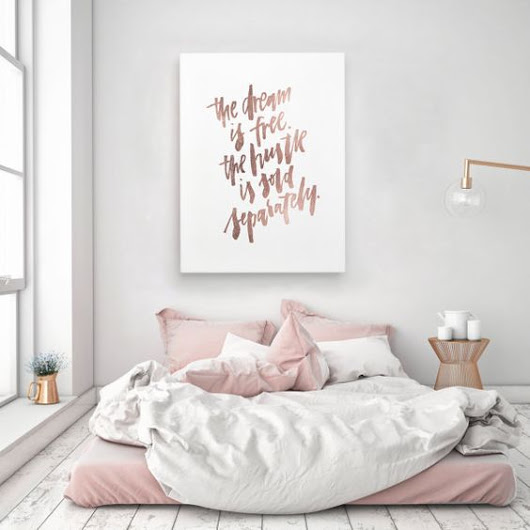Trend: Pink + Copper in the bedroom