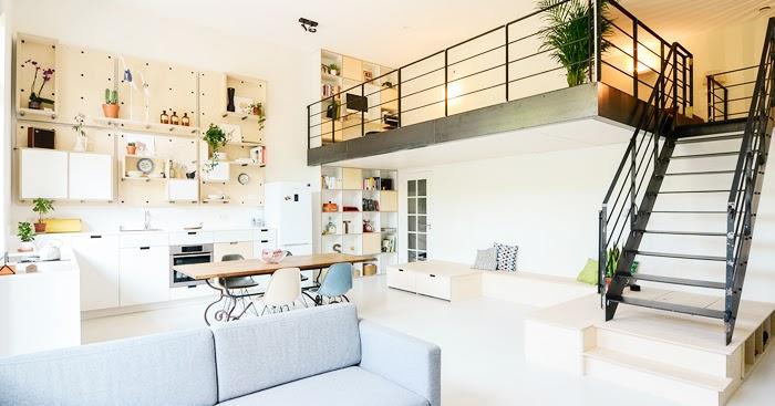 Una antigua escuela convertida en hogar tr s studio - Escuela de interiorismo ...