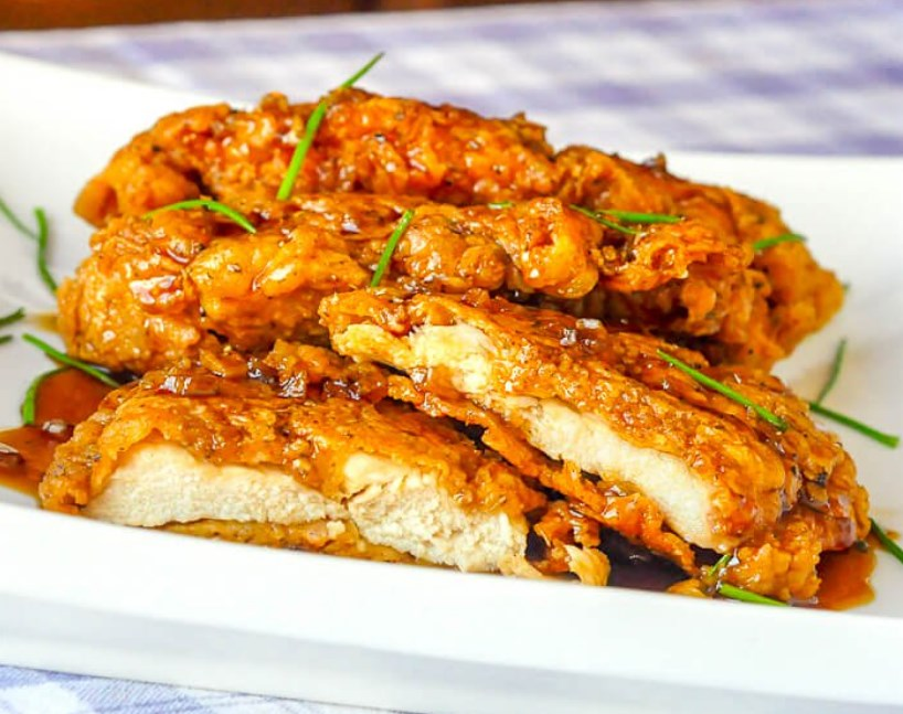 Double Crunch Honey Garlic Chicken Breasts #bestrecipe #dinner
