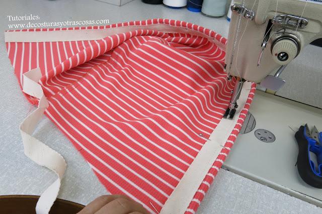 como coser cinta denin de adorno