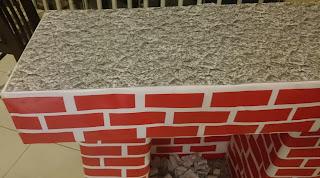 decoração-lareira de natal - lareira de papelão