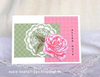"""Geburtstagskarte Karte handgemacht mit dem Stampin' Up! Kartensortiment """"Erinnerungen und mehr"""" Blumengarten"""