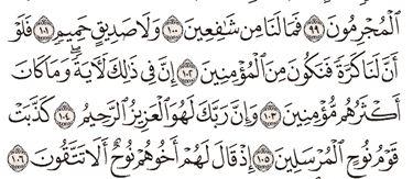 Tafsir Surat Asy-Syu'ara Ayat 101, 102, 103, 104, 105