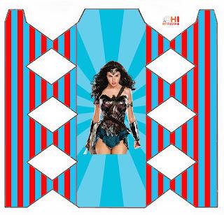 Película de la Mujer Maravilla: Cajas para Imprimir Gratis.