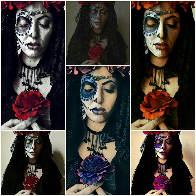 Favorito Make-Up Artist: HALLOWEEN 2016 SUGAR SKULL VS FASHION MAKE-UP BY  WO28