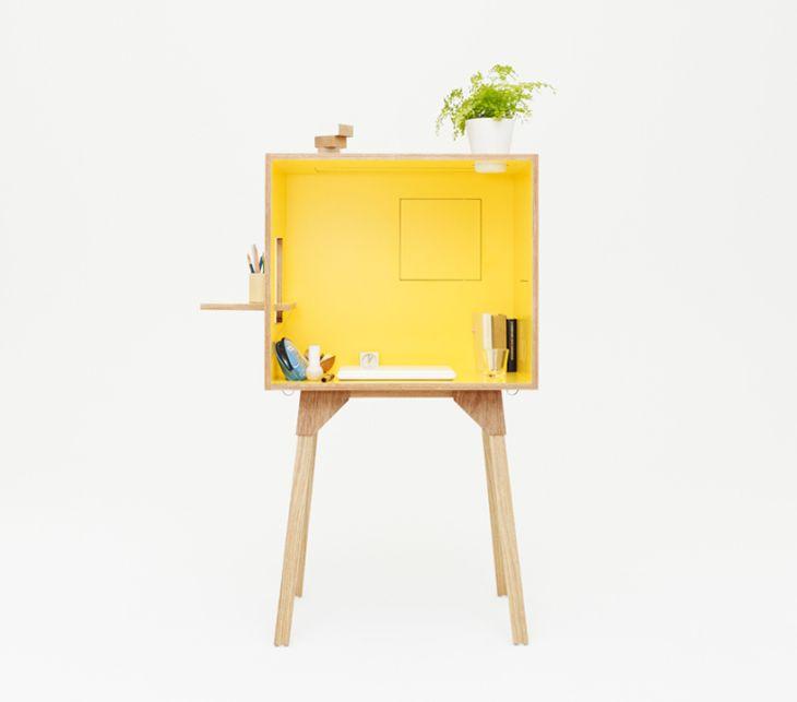 Banco y escritorio con un diseño muy atractivo.