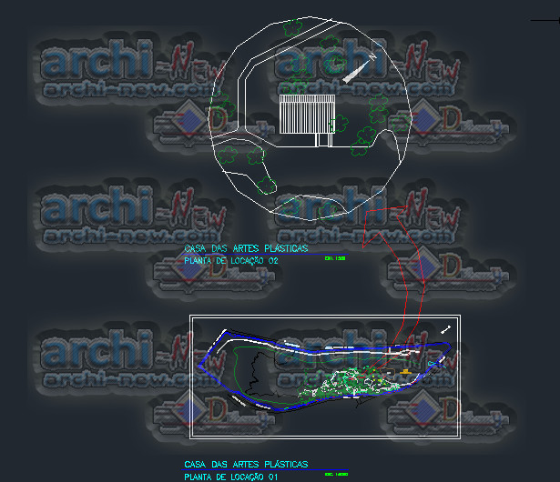 Casa das artes house of arts archi new free dwg file for File cad di casa