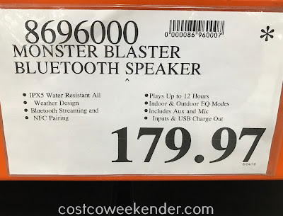 Deal for the Superstar Monster Blaster Bluetooth Speaker at Costco
