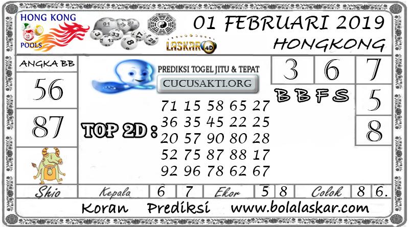 Prediksi Togel HONGKONG LASKAR4D 01 FEBRUARI 2019