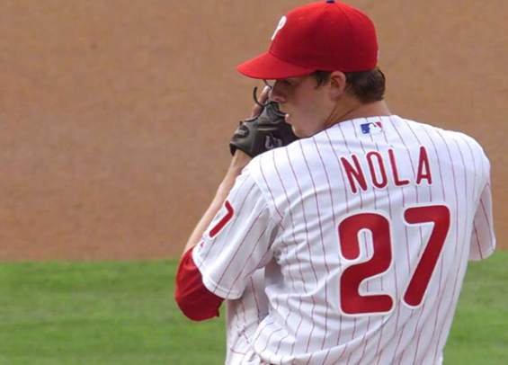 Aaron Nola leads the Philadelphia pitching staff